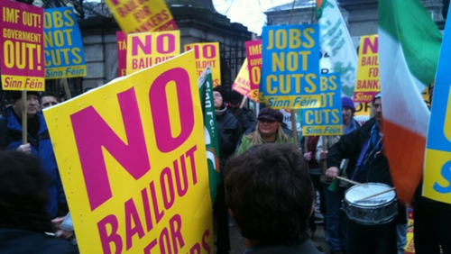 Dublin - Protests outside Leinster House