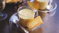 Coffee Zabaglione with Tuiles Biscuits - If you love coffee, you will adore this intense dessert. I like to serve it in glasses with tuiles biscuits on the side. Any leftover tuiles can be stored in an airtight container, where they will keep for a couple of days.
