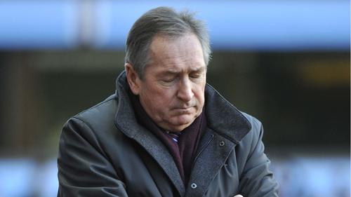 Pressure is growing on Gerard Houllier at Villa Park