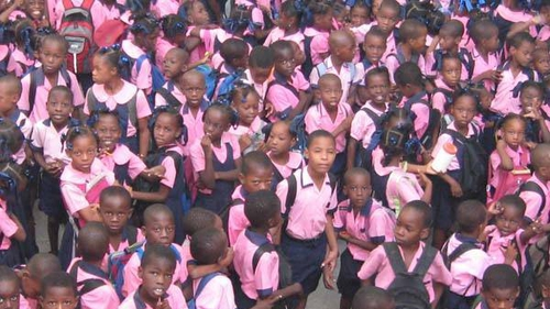 The children of St. Gerard's School, Port-au-Prince.