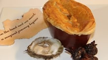 Beef and Guinness Pie with Oyster