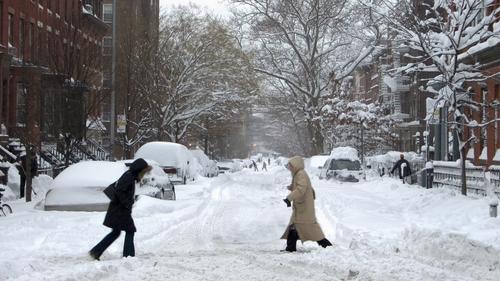 Brooklyn - New York sees heavy snowfall