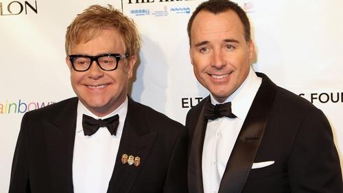Elton John - 'Yoko' to me - pictured with David Furnish