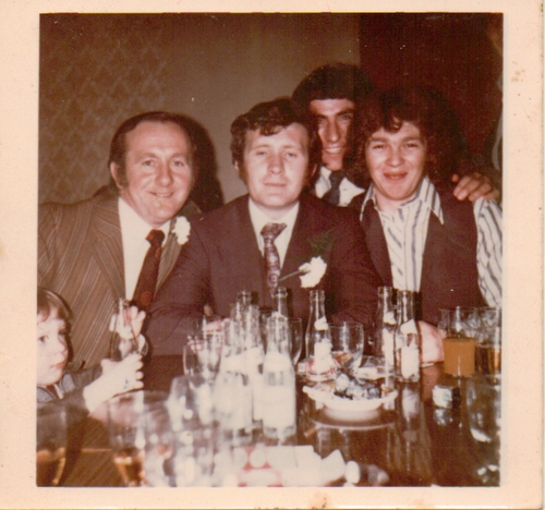 Hughie Gallagher, Johnny O Donnell, Ray Ham and Rolo Faughnan. 3 out of the 4 men in this picture were lost on the Evelyn Marie.