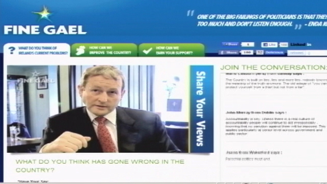 Fine Gael - Website hacked last night
