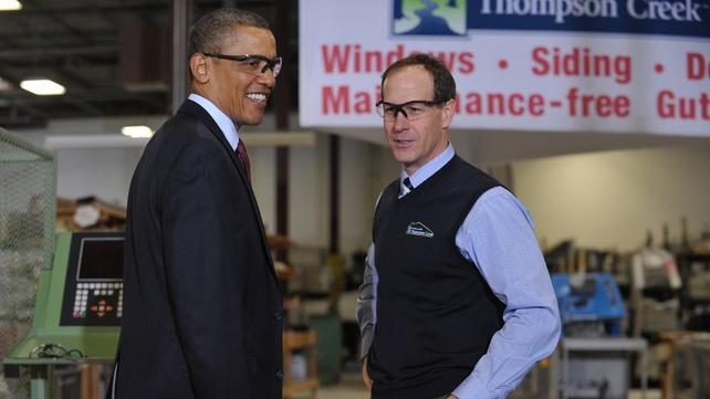 Barack Obama - Visited a window factory near Washington yesterday