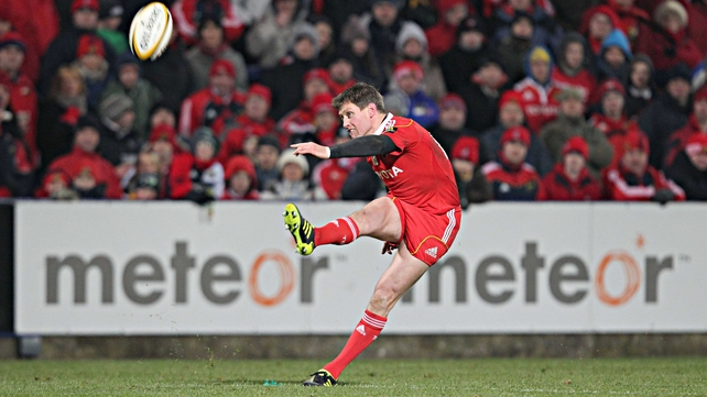 Munster's Ronan O'Gara kicked two penalties and a conversion at Thomond Park