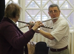 Members of the NCH Blow the Dust Orchestra in rehearsal