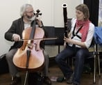 Connie Tanner, basson, RTE NSO with Ciaran Kelly, cello, Blow the Dust Orchestra