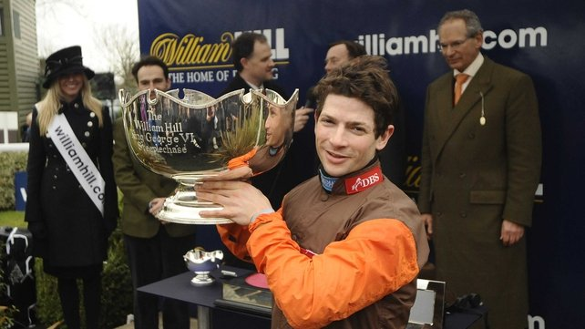 Sam Waley-Cohen celebrates a changing of the guard at Kempton