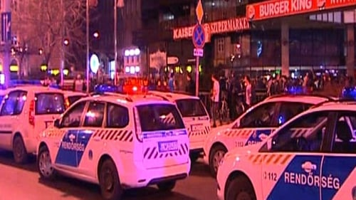 Budapest - Emergency crews surround West Balkan night club