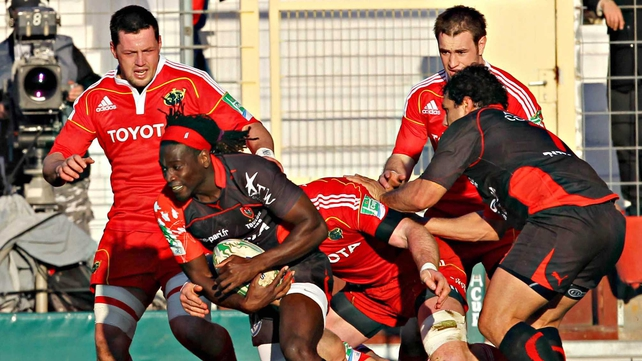Paul Sackey's try for Toulon just before half-time sounded the death knell for a below par Munster