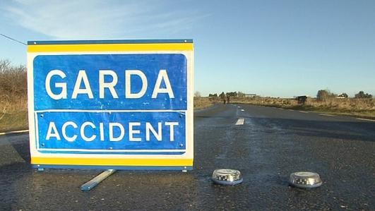 Gardai at the scene of Monaghan bus crash
