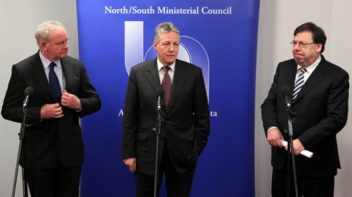 McGuinness, Robinson, Cowen - Meeting in Armagh