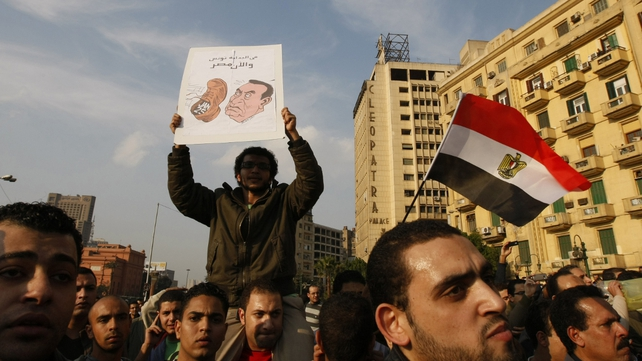 Egypt - Protests to oust President Hosni Mubarak