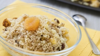 Mediterranean Couscous Cake - A great healthy dessert which has no added sugar or fat.