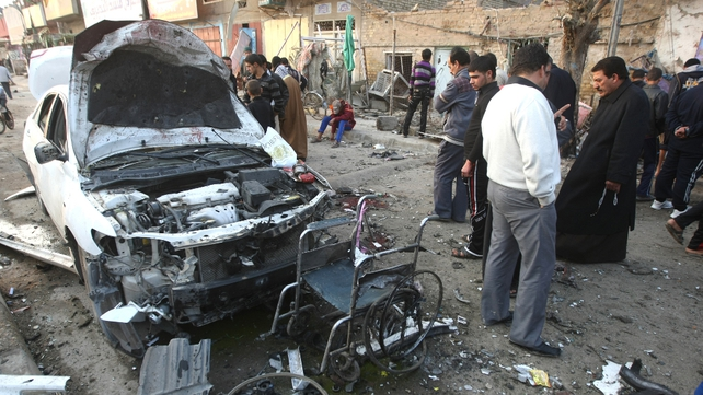 Baghdad - Mourners had gathered for funeral when bomb exploded