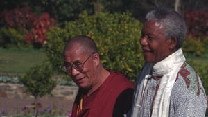 The Dalai Lama meets President Nelson Mandela at the South African parliament in Cape Town, in August 1996