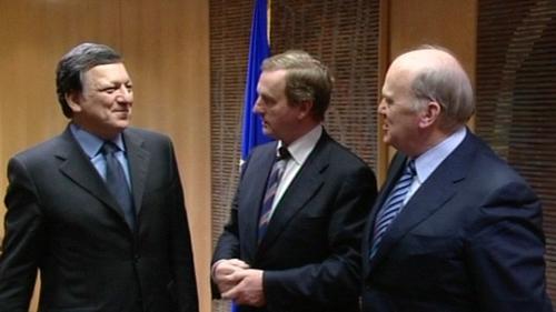 Brussels - José Manuel Barroso hosted the Fine Gael delegation