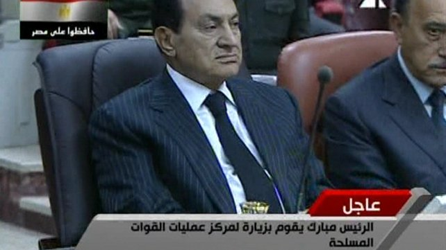 President Hosni Mubarak - Clings on to his 30 year rule