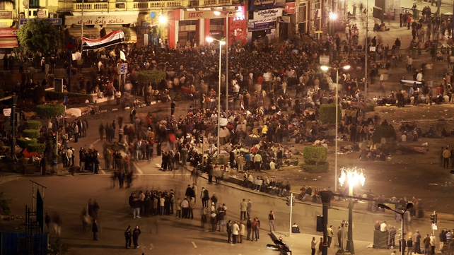 Cairo - Thousands remained in Tahrir Square last night