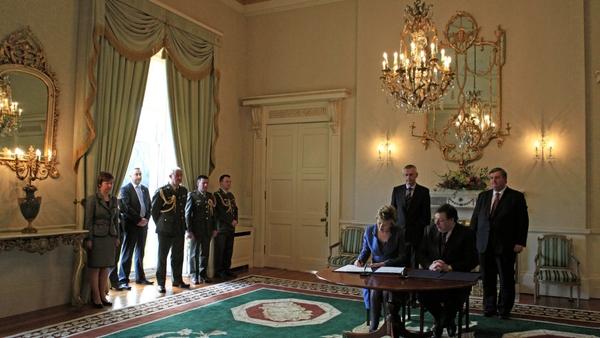 Áras an Uachtaráin - President McAleese dissolved Dáil yesterday