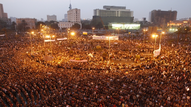 Egypt - Thousands protest against Hosni Mubarak