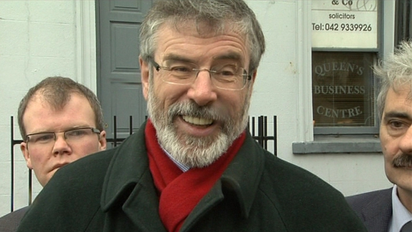 Gerry Adams - Seeking election in Louth