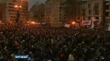 Nine News: Protestors defying curfew in Cairo