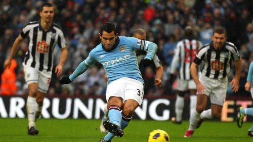 Carlos Tevez - Scored 20 goals in the Barclays Premier League last season