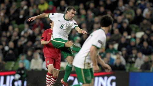 Darren Gibson opening goal of the contest was his first for the Republic of Ireland