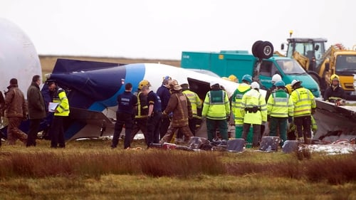 Cork Airport - Plane crashed on third landing attempt (Pic: Provision Photography)