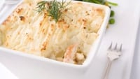 ICA Fish Pie - You can prepare the pie and refrigerate to cook later in which case it would take about 20-40 minutes to heat through fully.