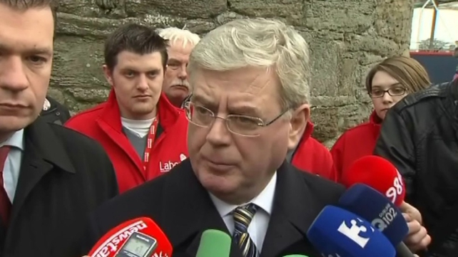 Eamon Gilmore - Denies his party is panicking about Fine Gael support