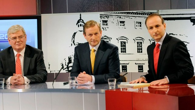 Gilmore, Kenny & Martin - Three-way Irish debate (Pic: Liam Sweeney)