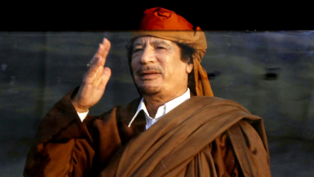 Muammar Gaddafi - Large crowds protesting regime