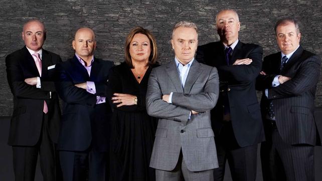 Niall O'Farrell (far left) in RTE's Dragon's Den