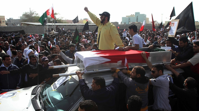 Bahrain - Thousands joined funeral processions in Sitra