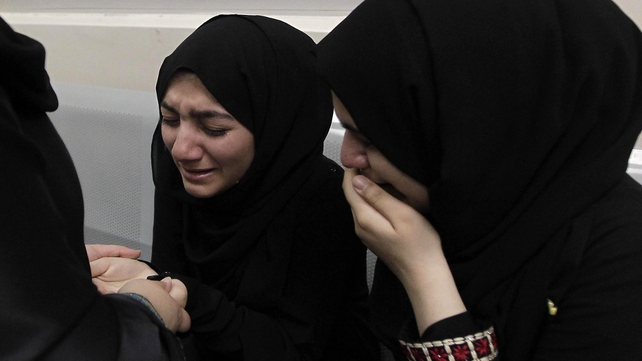 Bahrain - Women at a hospital to which protestors were brought