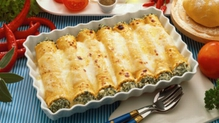 Mediterranean Vegetable and Chicken Cannelloni