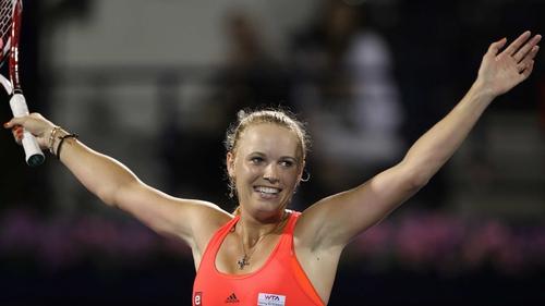 Caroline Wozniacki beat Svetlana Kuznetsova 6-1 6-3 in the final of the WTA Dubai Duty Free Tennis Championships