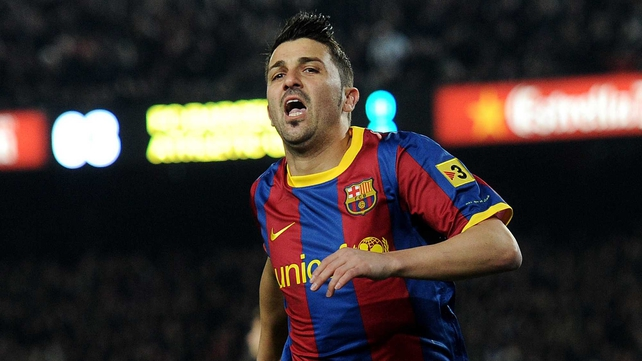 David Villa has been out of the Barcelona starting line-up recently