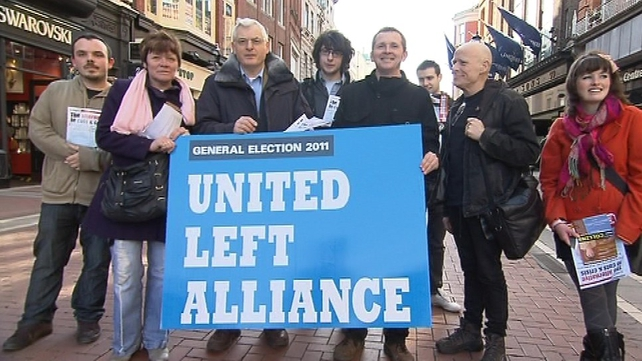 United Left Alliance - Seeking support in Dublin