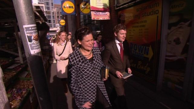 Sinn Féin - Mary Lou McDonald campaigning in Dublin