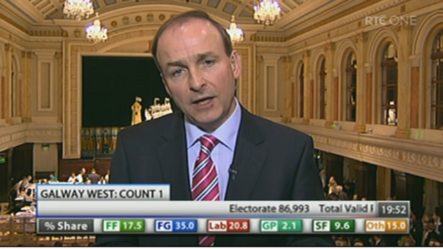 Micheál Martin - Elected on first count in Cork South Central