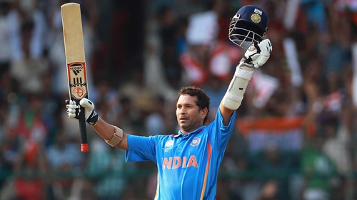 Sachin Tendulkar hit 120 for India as they looked set for victory against England