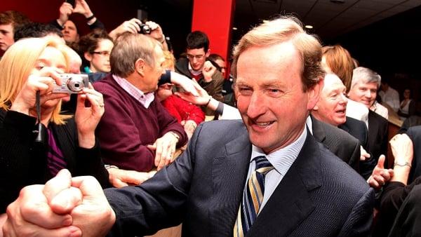 Enda Kenny - Leinster House meeting with Eamon Gilmore