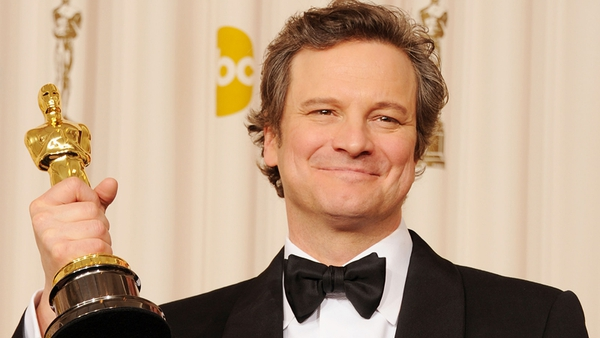 Colin Firth with his Oscar