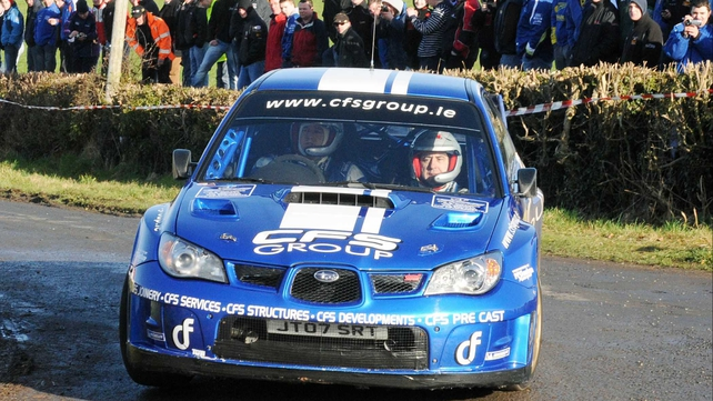 Tim McNulty and Paul Kiely - Took victory in the Hotel Kilmore Cavan Rally