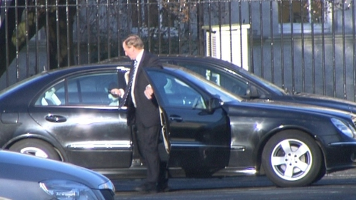 Enda Kenny - Arrived at Leinster House early this morning